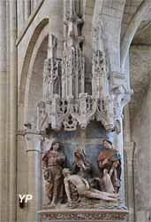 Vierge de pitié entre saint Jean et saint Étienne