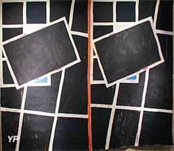 Sans titre (Bernard Piffaretti) - expo temporaire 2018 Muralnomad