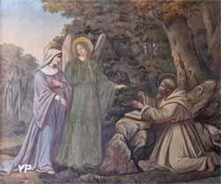 Sainte Isbergue reçoit de saint Venant le conseil de se consacrer à Dieu (Charles Demory)