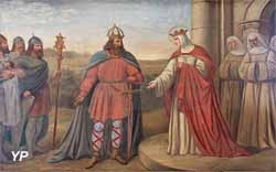 Charlemagne rend visite à sa soeur, sainte Isbergue (Charles Demory)