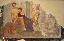 Fragment de peinture murale (Pompéï, 30-50 après JC)
