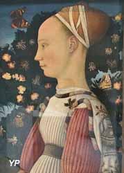 Portrait d'une princesse de la famille d'Este (Antonio di Puccio da Cereto, dit Pisanello, 1435-1440)