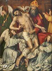 La Sainte Trinité avec Dieu le Père soutenant le Christ (Colijn de Coter, 1450-1455)
