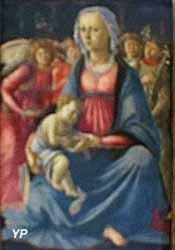 La Vierge et l'Enfant, entourés de cinq anges (Alessandro di Mariano Filipepi, dit Sandro Botticelli, 1470)