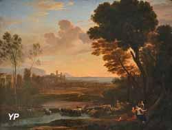 Paysage avec Paris et Oenone, dit le Gué (Claude Gellée, dit Claude Lorrain, 1648)