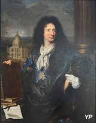 Jules Ardouin Mansart, architecte du roi de France Louis XIV (Hyacinthe Rigaud, 1685)