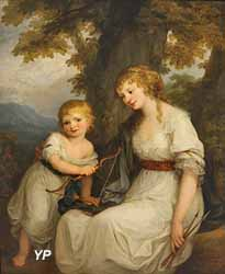 Portrait de Barbara Juliane von Wietinghoff, baronne de Krüdener (Angelika Kauffmann, 1786)