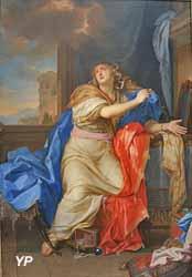 Sainte-Marie Madeleine renonçant aux vanités du monde (Charles Le Brun, 1654)