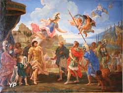 La Querelle d'Achille et d'Agamemnon (Giovanni Battista Gaulli, dit Baciccio, vers 1685)