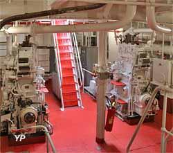 Bateau-feu Sandettié - groupes de 80 kW