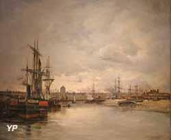 Le chenal de Dunkerque (Charles Lapostolet, 1879)