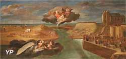 La construction du batardeau (Charles Carlier, 18e s.)