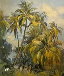 Cocotiers sur la plage (Jean Ronsin)