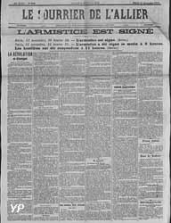 Le Courrier de l'Allier - l'Armistice est signé