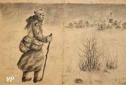 Dessin de Benoît Pacaud, incorporé le 15 décembre 1914 à 21 ans  (Archives de l'Allier)