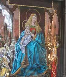 Vierge trônante avec sainte Valérie et un ange (Louis Bourdery, 1886)
