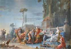 Achille à Scyros, à la cour de Lycomède (Noël Hallé, 1769)