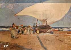 Barque et groupe de femmes à Valence (Joaquin Sorolla y Batisda, 1894)