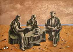 Le Souper des paysans (huile sur toile, Jean Lurça, 1936)
