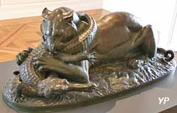 Tigre dévorant un gavial (bronze, Antoine Louis Barye)