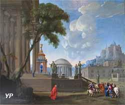 Castor et Pollux annonçant aux Romains la perte de la bataille de Cannes (Jean-Georges Berdot, dit Bardot de Montbéliard, 1660)