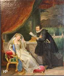 La Poésie : le Tasse lisant ses vers à Léonore d'Este (Louis Ducis, 1823)