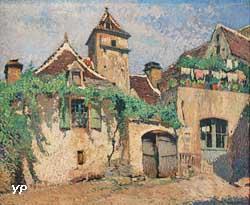 Vue générale de Saint-Cirq-Lapopie (Henri Martin)