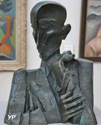François Mauriac (bronze, Ossip Zadkine)