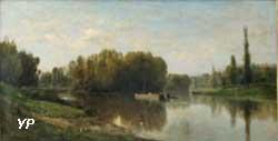 Les bords de la Dordogne à Eynesse (Hippolyte Pradelles)