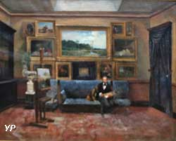 Le peintre et collectionneur Théodore Gardère dans son atelier (Théodore Gardère)