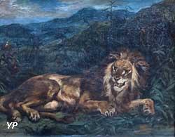 Un Lion à la source (Eugène Delacroix)