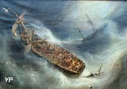 Trait de dévouement du capitaine Desse, de Bordeaux, envers le Colombus, navire hollandais (Théodore Gudin)