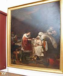 Saint Louis visitant les pestiférés dans les plaines de Carthage (Guillaume Guillon, dit Lethiere)