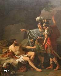 Ulysse et Néoptolème enlevant à Philoctète les flèches d'Hercule (Jean-Joseph Taillasson)