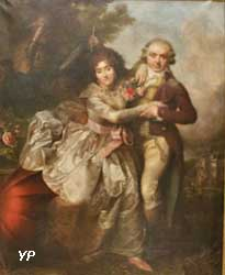 Portrait de Jean-Baptiste de Mareilhac et de son épouse née Émilie Bonneau de la Cure à l'impromptu (François-Louis Lonsing)