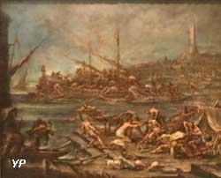 Embarquement des galériens dans le port de Gènes (Alessandro Magnasco)