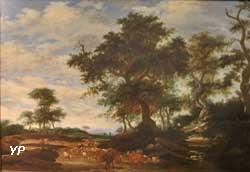 Paysage avec un grand chêne au milieu (Jacob Salomonsz, van Ruysdael)