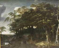Paysage sylvestre aux chasseurs (Jan Looten)