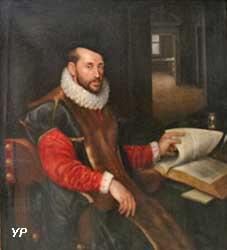 Portrait d'homme assis feuilletant un livre (Lavinia Fontana)