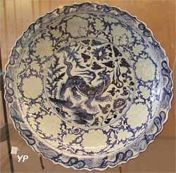 Plat au baizi - animal fabuleux (Chine, XIVe s.)