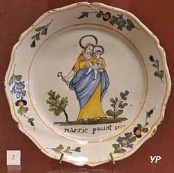 Assiette patronymique - Marie Pauiot (1773)