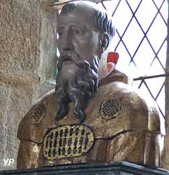 Buste reliquaire de saint Amand, fondateur de la ville (17e siècle)