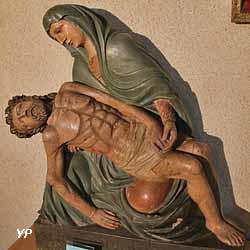 Vierge de Pitié (bois polychrome, XVIe siècle)