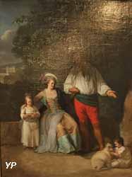 Portrait de famille en plein air (Henri-Pierre Danloux)