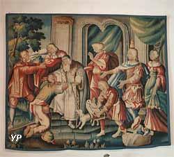 Le retour de l'Enfant prodigue (tapisserie de basse-lice, manufacture d'Aubusson, XVIIe s.)