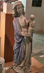 Vierge à l'Enfant (bois polychrome, XIVe s.)
