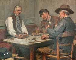 Les Jouers de dominos (Charles Denet, 19e s.)