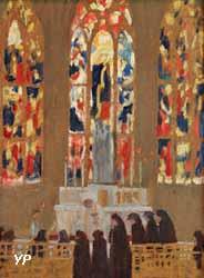 La cathédrale d'Évreux - la communion dans la chapelle de la Vierge (Maurice Denis)