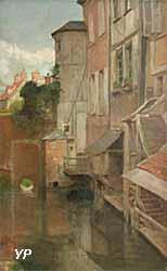 Le Trou Bailli sur l'Iton à Évreux (Charles Denet, 1935)