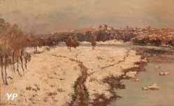 Neige au pont du château (Albert Lebourg)